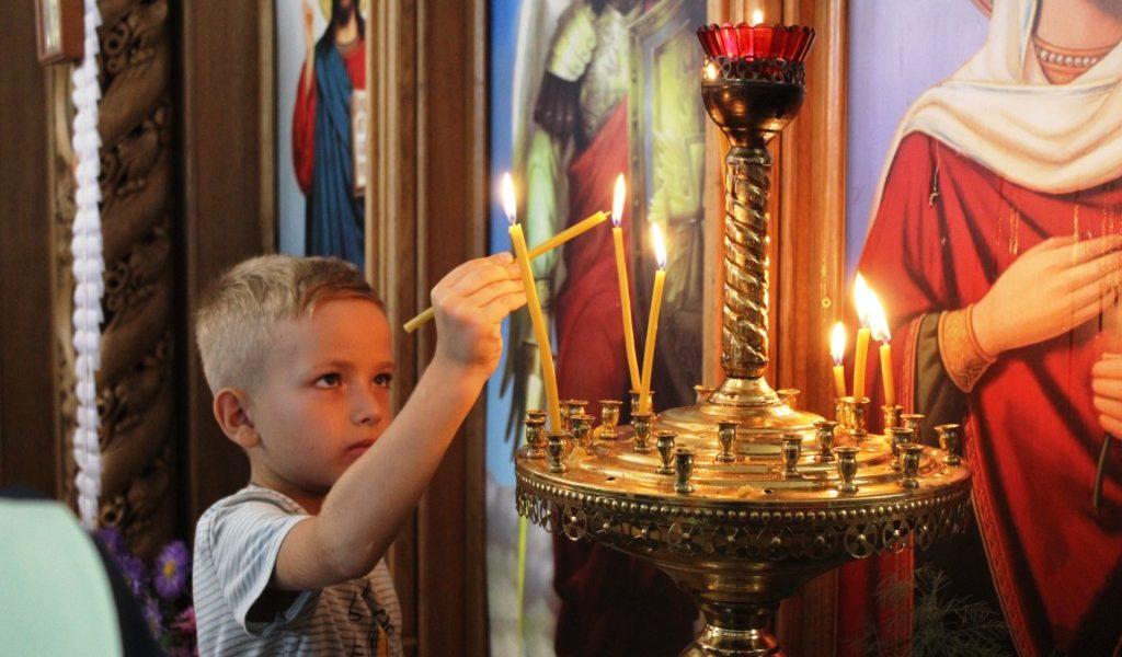 Сповідь дітей та молебень перед початком навчання